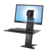 "Ergotron® WorkFit-SR 33-416-085 30"" Heavy Single Monitor Sit-Stand Desktop Workstation"