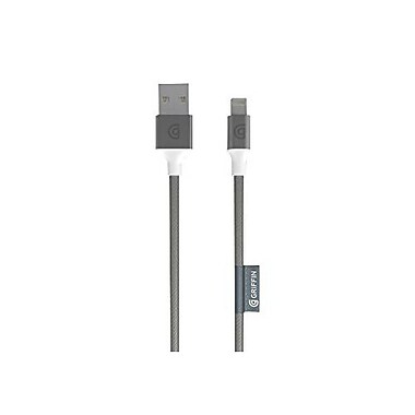 Griffin® Data Transfer Cable, 10', Silver, Lightning/USB (GC40905)