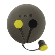 Maxell Wrap'd 190605 In-Ear Earbud Headphone, Yellow/Gray
