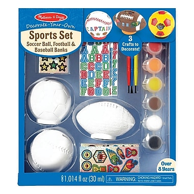 Melissa & Doug Decorate-Your-Own Sports Set, 8+ Years (9536)