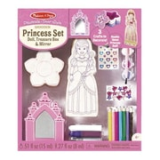 Melissa & Doug Decorate-Your-Own Wooden Princess Set, 4 - 8 Years (9543)