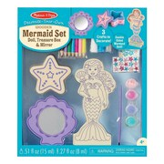 Melissa & Doug Decorate-Your-Own Wooden Mermaid Set, 4 - 8 Years (9544)