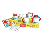 Melissa & Doug Wooden Steep and Serve Tea Set, 3 - 7 Years (9843)