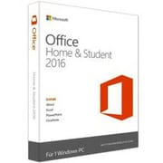 Microsoft® Office Home & Student 2016 Software License, 1 PC, Windows, Electronic (79G-04287)