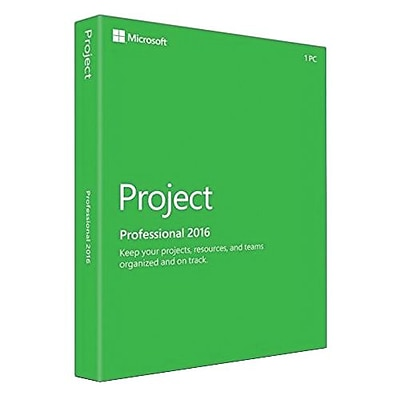 Microsoft® Project Professional 2016 Software License, 1 PC, Windows, Download (H30-05445)