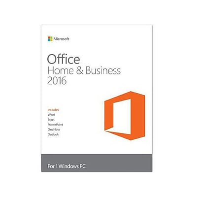 Microsoft® Office Home & Business 2016 Software License, 1 PC, Windows, Electronic (T5D-02323)