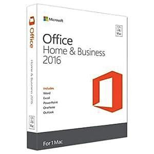 Microsoft® Office Home & Business 2016 Software License, 1 PC, Mac, Download (W6F-00465)