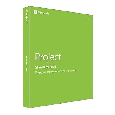 Microsoft® Project Standard 2016 Software License, 1 PC, Windows, Download (Z9V-00342)