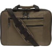 "Mobile Edge Olive Cotton Canvas Carrying Case for 16"" Tablet/iPad/Magazine/Paper Sheet/Accessories (MECBC9)"