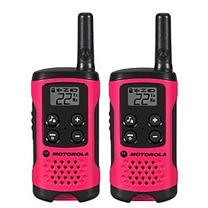 Motorola® T107 Talkabout™ 22 Channel Two Way Radio, Neon Pink, 2/Pack