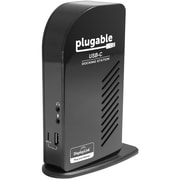 Plugable® USB-C Triple Display Docking Station for Apple MacBook Retina 2015/2016, Black (UD-ULTCDL)