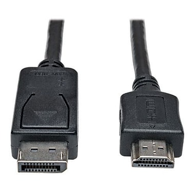 Tripp Lite P582-003 3' DisplayPort to HDMI Male/Male Audio/Video Cable, Black