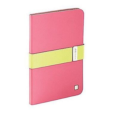 Verbatim® 98418 Folio Signature Case for iPad mini 1/2/3, Pink/Lime Green