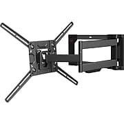 """Barkan Mounts™ Full Motion Curved/Flat Panel Dual Arm TV Wall Mount for 32"""" - 80"""" LED Screens (4400.B)"""