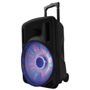 Supersonic® IQ Sound® IQ-3212DJBT Portable Bluetooth DJ Speaker with Disco Light, Black