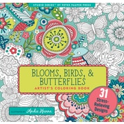 Studio Series: Blooms, Birds, & Butterflies Artist's Coloring Book
