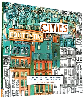 Fantastic Cities Adult Coloring Book