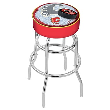 Holland Bar Stool NHL 30'' Swivel Bar Stool; Calgary Flames