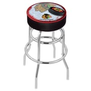 Holland Bar Stool NHL 30'' Swivel Bar Stool; Chicago Blackhawks- Black