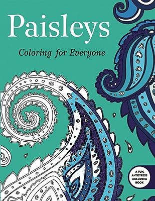 Paisleys Coloring for Everyone Coloring Book