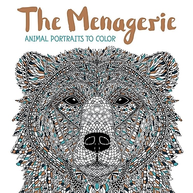 The Menagerie Animal Portraits To Color Adult Coloring Book