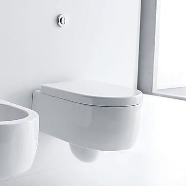 WS Bath Collections Flo Elongated Wall Hung Toilets
