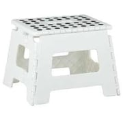 Home Basics 1-Step Plastic Folding Step Stool; White