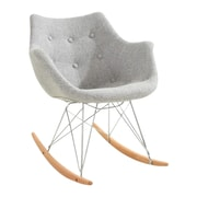 LeisureMod Willow Rocking Chair; Gray