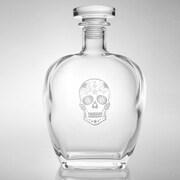 Rolf Glass Sugar Skull Whiskey Decanter 23 Oz.
