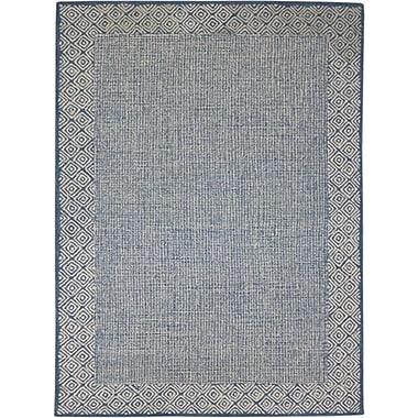AMER Rugs Calvin Hand-Tufted Blue Area Rug; 8' x 11'