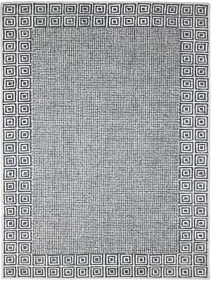 AMER Rugs Calvin Hand-Tufted Gray Area Rug; 7'6'' x 9'6''