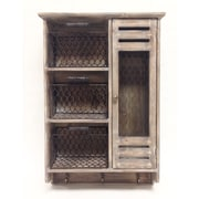 Wilco Home Store It Wood and Metal Mesh Wall Cabinet Organizer