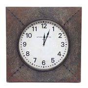 Wilco Home Smokey Cabin Boiler Room Metal Wall Clock