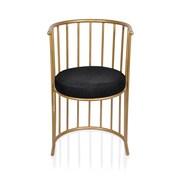 Fashion N You Barrel Chair; Anti Gold