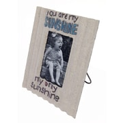 Wilco Home Picture It Inspirational Corrugated Tin Picture Frame