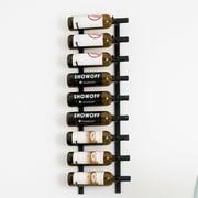 VintageView Wall Series 9 Bottle Wall Mounted Wine Rack; Satin Black