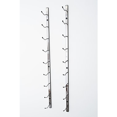 VintageView Wall Series 9 Bottle Wall Mounted Wine Rack; Black Chrome