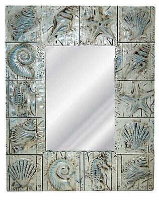Hickory Manor House Seaside Wall Mirror; Blue