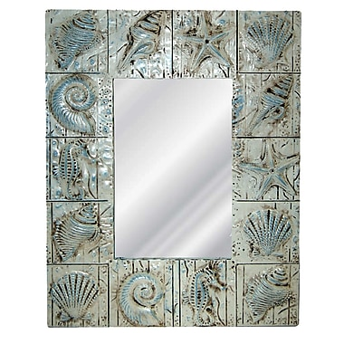 Hickory Manor House Seaside Wall Mirror; Blue