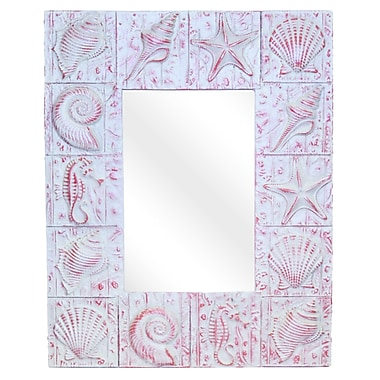 Hickory Manor House Seaside Wall Mirror; Coral