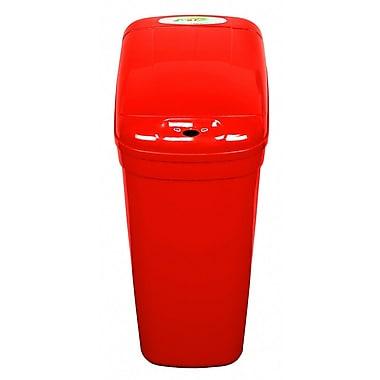 Nine Stars Plastic 7 Gallon Motion Sensor Trash Can; Red