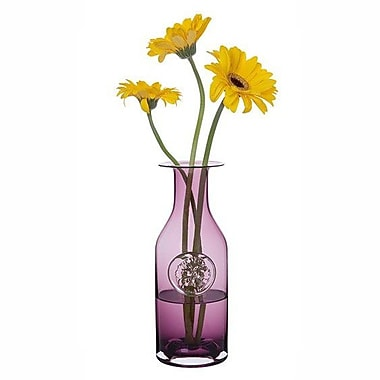 Dartington Pansy Flower Bottle Vase