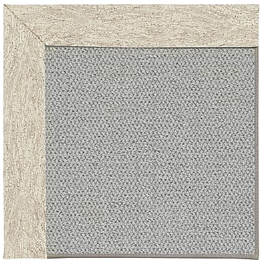 Capel Inspirit Silver Machine Tufted Natural Area Rug; Square 10'