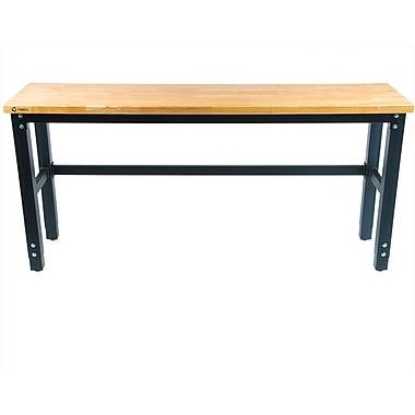 Trinity 72''W Adjustable Height Wood Top Workbench; 40'' H X 72'' W X 24'' D