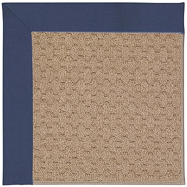 Capel Zoe Machine Tufted Blue/Brown Indoor/Outdoor Area Rug; Square 6'