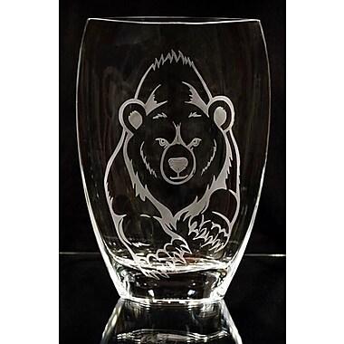 Womar Glass Bear Polish Art Vase