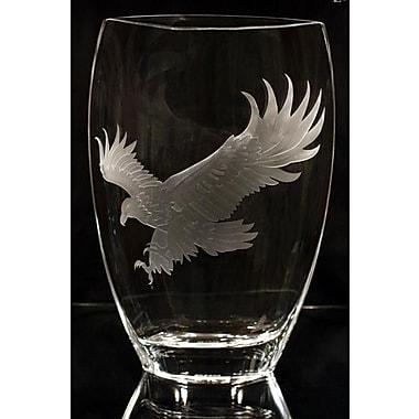 Womar Glass Eagle Polish Art Vase
