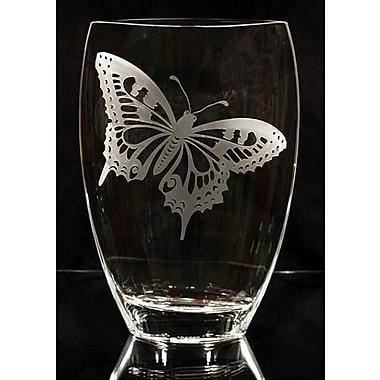 Womar Glass Butterfly Polish Art Vase