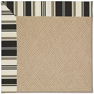 Capel Zoe Machine Tufted Onyx/Brown Indoor/Outdoor Area Rug; Round 12' x 12'
