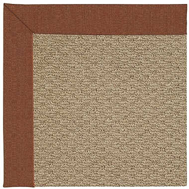 Capel Zoe Machine Tufted Dried Brown Indoor/Outdoor Area Rug; Square 6'